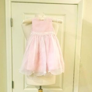 Talbot Kids Pink Tulip Dress w/Organza Overlay